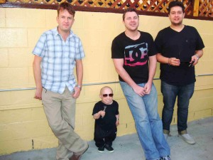 Jan 2012. Myself, Verne Troyer, Lonny and Ray, somewhere in L.A
